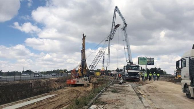 Work continues at the crossroads of İncek Supreme Court