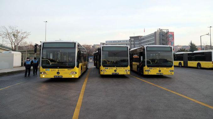 linhas de ônibus gratuitas operando em Istambul
