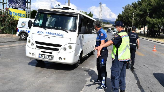 Supervision of pirate taxis and minibuses from izmir metropolitan municipality