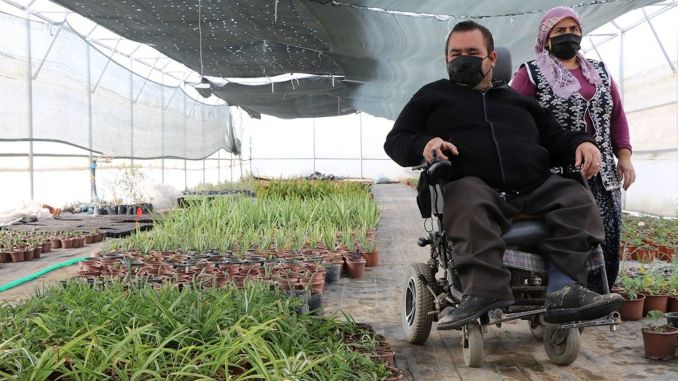 million lira support was provided to disabled citizens who want to start their own business