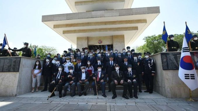 commemoration ceremony was held in korea park in ankara on the th anniversary of the korean war