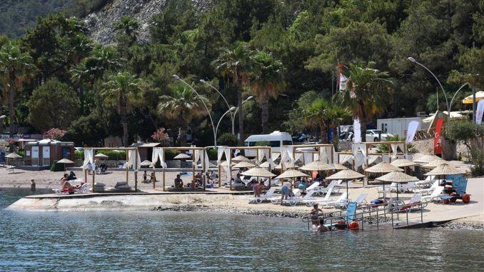 Marmaris Icmeler free public beach put into service