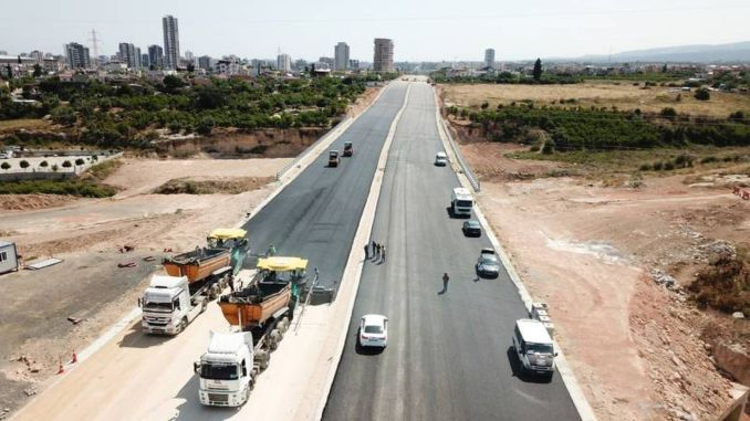 The works for the mersin ring road continue at full speed
