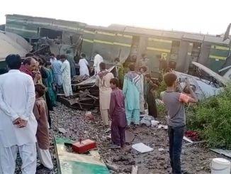 パキスタンの列車事故最小