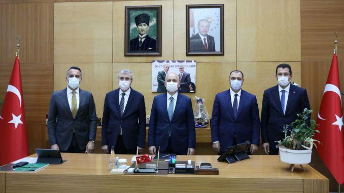 Sakarya rail system project was presented to minister karaismailoglu