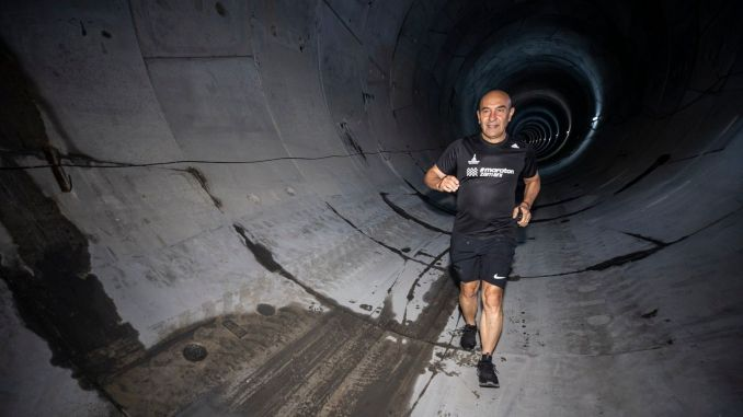 morning run in narlidere metro tunnel from soyer