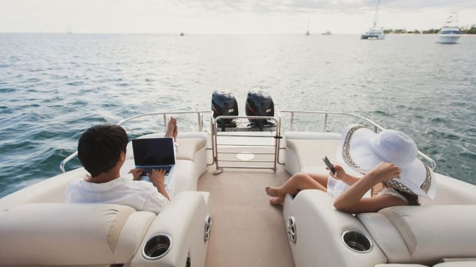 High speed internet is always with you during your boat vacation