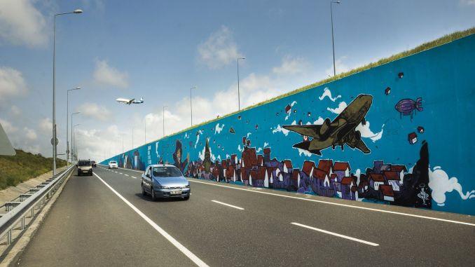 Turkey's largest graffiti at Istanbul airport