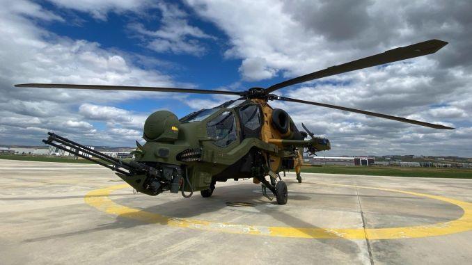 tusastan kara kuvvetleri komutanligina t atak helikopteri teslimati