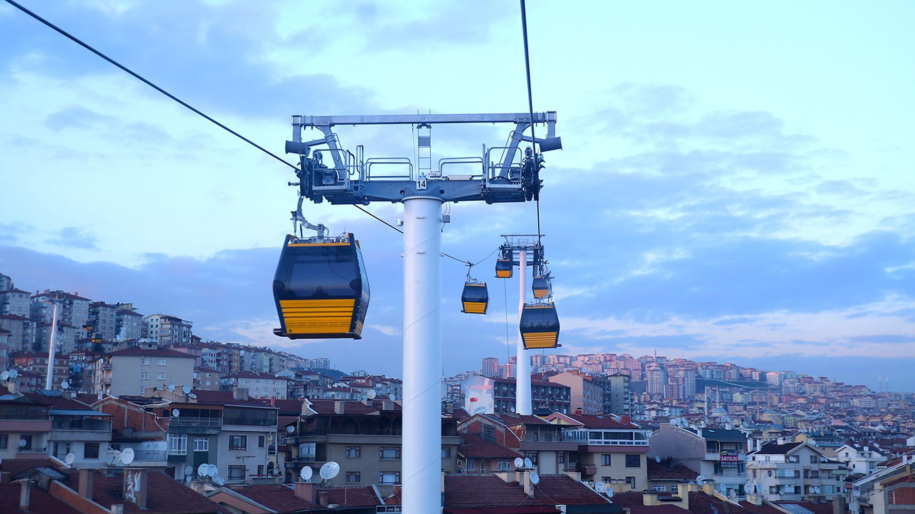 Maintenance work has started on the Yenimahalle Sentepe cable car line