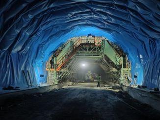 egribel tunelinde calismalar araliksiz suruyor