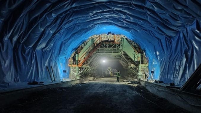 Work in the egribel tunnel continues uninterrupted