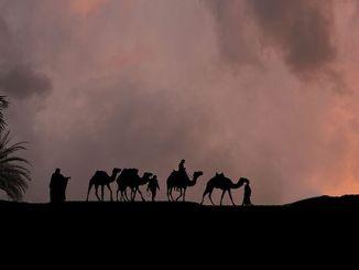 هاجر النبي محمد وأول مسلمين معه من مكة إلى المدينة المنورة