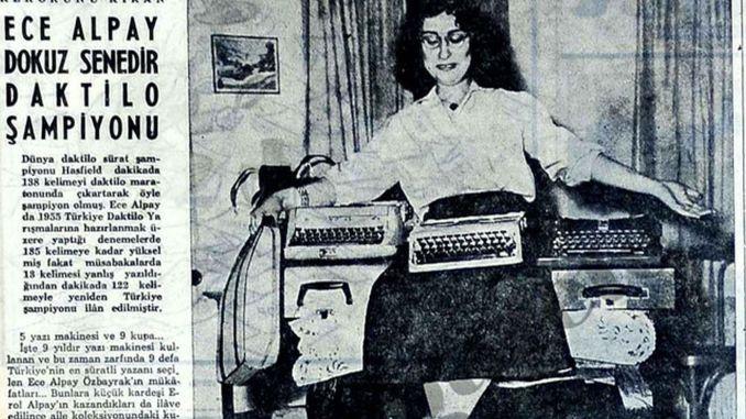 Die Türkei gewinnt die Weltmeisterschaft für Schreibmaschinen