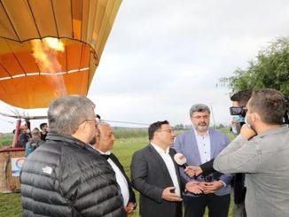 הכדור הפורח הראשון המריא באגם אמרה באפיונקארהיסאר