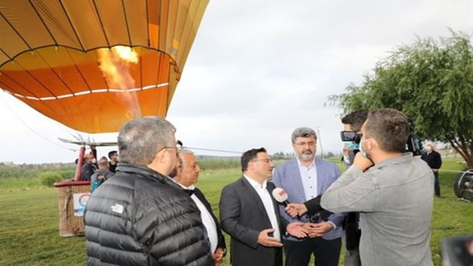 The first hot air balloon took off at Emre lake in afyonkarahisar
