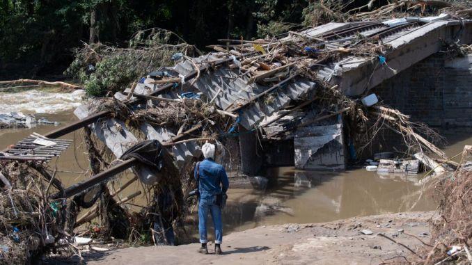 জার্মানিতে বন্যার বিপর্যয় কিলোমিটার রেলপথকে মারাত্মকভাবে ক্ষতিগ্রস্থ করেছে