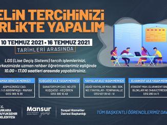 تقع بلدية أنقرة الحضرية بجانب الطلاب خلال فترة التفضيل lgs
