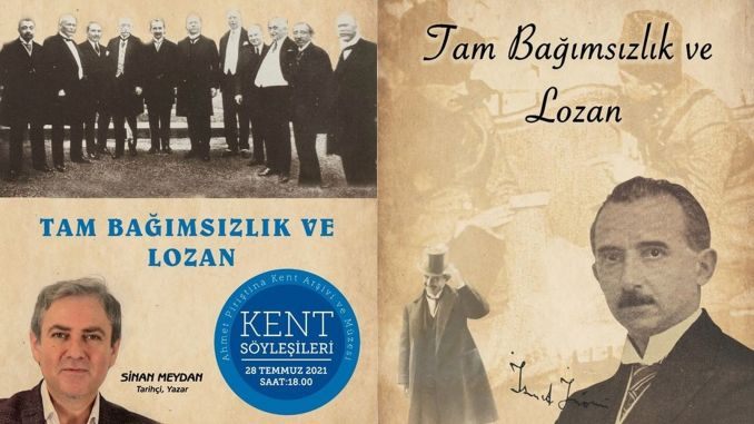 apikam will commemorate the Treaty of Lausanne with two events