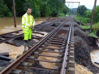 كارثة الفيضانات على السكك الحديدية الأوروبية