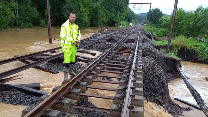 flood disaster on european railways