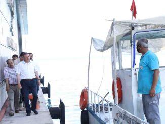 Tổng thống savas đã kiểm tra tại cơ sở xe buýt đường biển Hatay