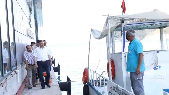 President savas made inspections at the Hatay sea bus facility