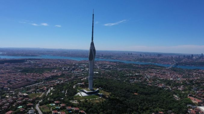 Camlica tower became the focus of attention of visitors during the feast of sacrifice