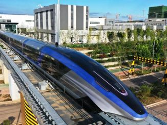 gin introduced the maglev train, which reaches kilometers per hour