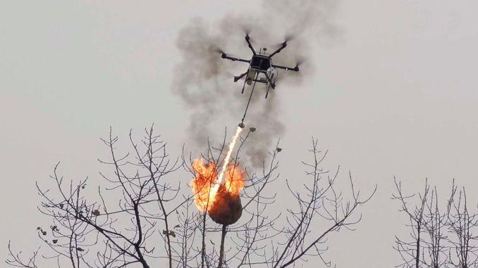 egmden alev puskurten drone hakkinda aciklama