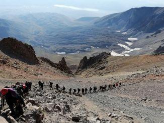Восхождение на вершину Эрджиес начинается