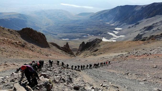 erciyes summit climbing begins