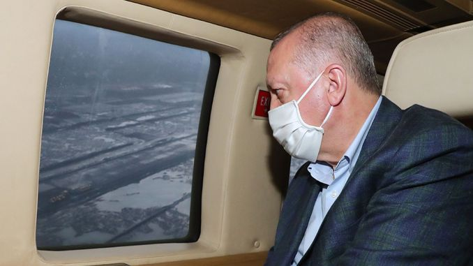 erdogan viewed rize artvin airport from the air