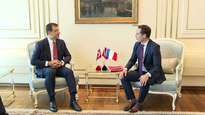 IBB President Imamoglu hosted the minister responsible for French transport affairs, djebbari
