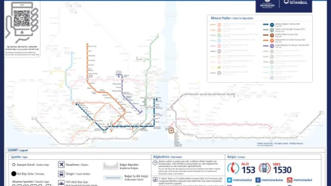 istanbul tram lines map