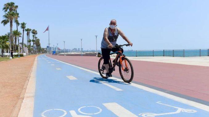 bike path call from mersin metropolitan city to pedestrians