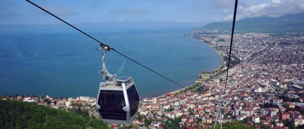 Ordu Boztepe cable car line is being taken care of for a day