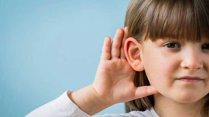 middle ear fluid collection can cause hearing loss in your child