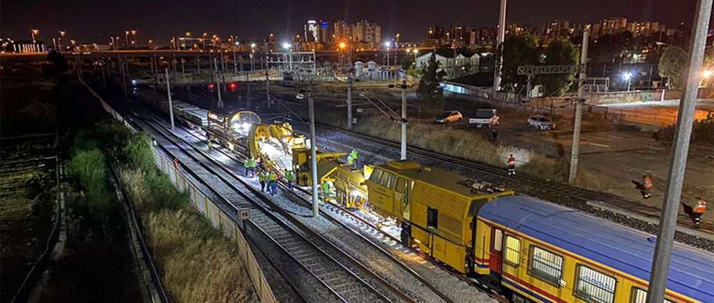 tcdd is renewing the cigli Halkapinar suburb line