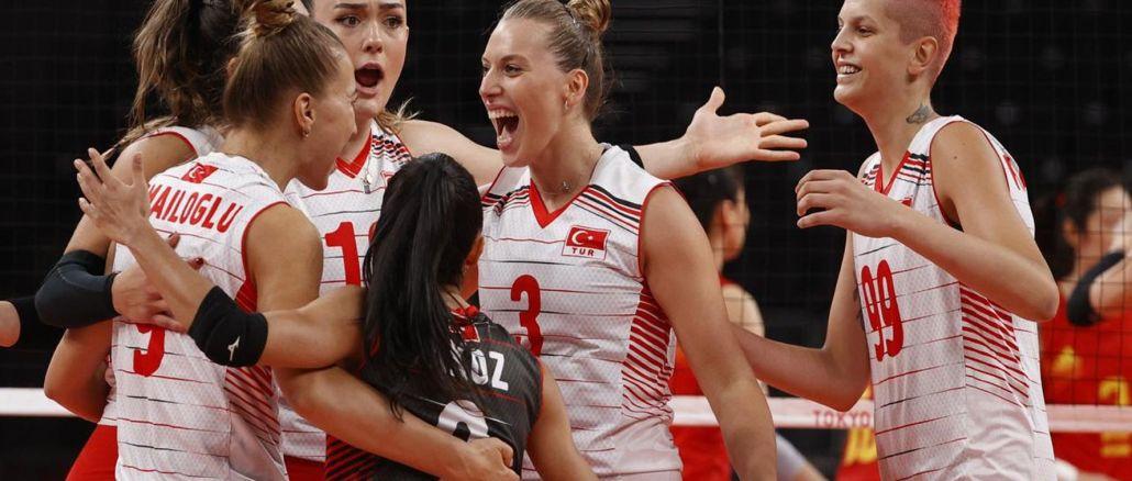 Turkey women's national volleyball team beat jinn at tokyo olympic games