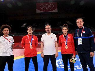 prvi medalje nacionalni taekwondo igrači hatice i hakan u tokyu