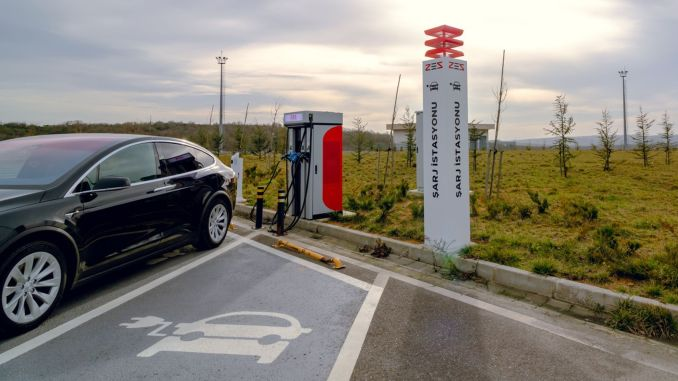 Uninterrupted travel to the province of Turkey with zes electric vehicle charging station