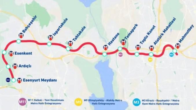 Esenyurt Metro map