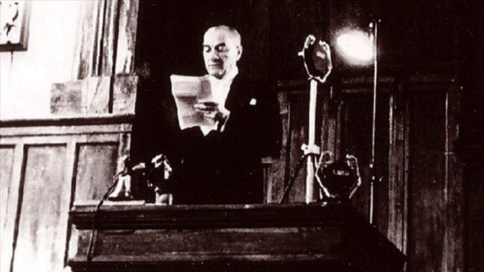 Mustafa Kemal Yeniden TBMM Baskani Secildi