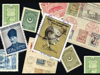 Первые почтовые марки Турецкой Республики