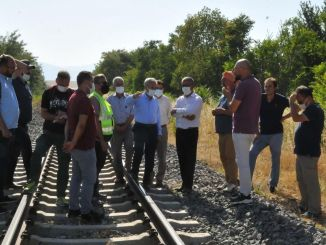 construction works for akşehir osb railway freight transport begin