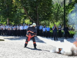 fire drill training for ANFA personnel from Ankara fire brigade