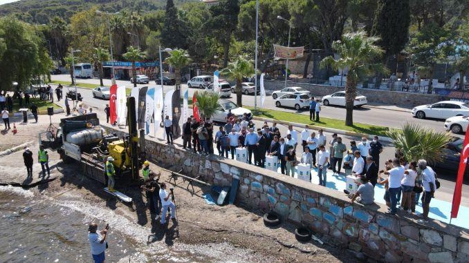 Ayvalik fishermen's shelter construction work has started