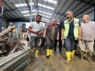 Ministar Varank obišao je industrijska područja pogođena poplavama