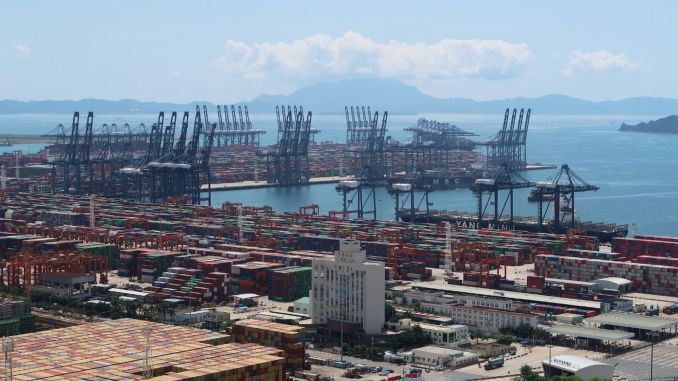china reopens the terminal of the world's third largest freight port